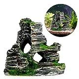 Switty Aquarium Dekoration Rock Cottage Cave Stein Versteckte Felsen Höhle für Fish Tank
