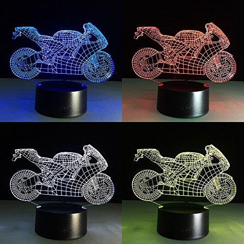 CITTATREND-Lámpara de Mesa de Noche Iluminación LED Infantil Nocturna de Ambiente 3D...