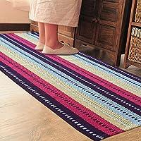 PRAGOO Colorato tappeto di cotone Tessuto a