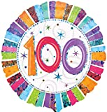 Folienballon Helium 100 Geburtstag mit Ballongas gefüllt! Serie Konfettibunt Holographic 45cm