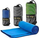 Fit-Flip Microfaser Handtuch - Premium Selektion -40x80-blue-darkblue