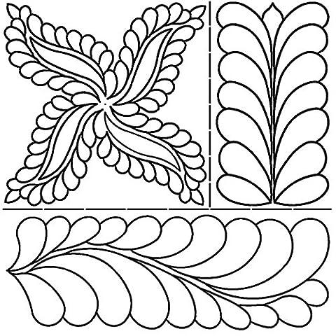 Sten Source Fab Feathers par Pepper Cory Pochoirs pour courtepointe 43,2 x 51cm
