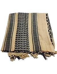 100% Cotton Shemagh Scarf Arab Keffiyeh Army Military Tactical Sniper Veil Face Wrap SaS Headscarf Unisex Desert Shawl Hijab By Milspec Surplus