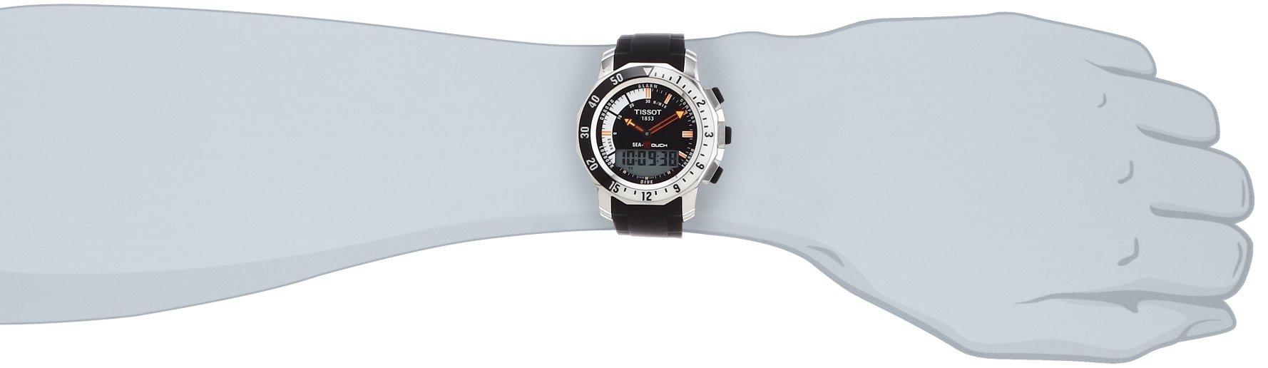 Tissot T0264201728100 – Reloj de Cuarzo para Hombre, con Correa de Goma, Color Negro