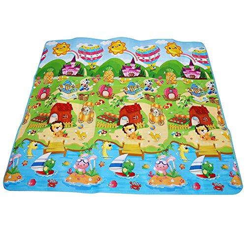 Los niños juegan alfombra doble cara suave juego alfombra gatear protección alfombra deportes juguete