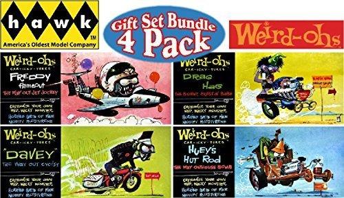 hawk-weird-ohs-car-icky-tures-davey-drag-hag-freddy-flameout-hueys-hot-rod-wacky-monster-models-gift