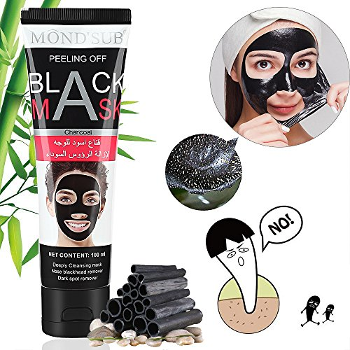 Aoral Aktivkohle Peel Off Maske mit hochkonzentrierter Hyaluronsäure Blackhead Maske Anti Mitesser Maske Gesichtsmaske Anti Aging Maske Aktivkohle Maske Tiefenreinigend für gesunde und jung Haut