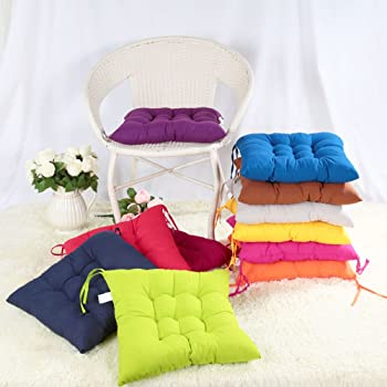 Luxury Removable Tie On Chair Seat Cushions Pads Garden Dining Kitchen 2x//4x//6x