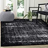 A2Z RUG Modern Vintage Design Rug Black & Ivory 160x230 cm - 5'2''x7'5'' ft Shadow Collection Area Rugs Contemporary Living Dinning Room & Bedroom