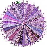 Yiuswoy 36 Stück Baumwolltuch Stoffpakete DIY Artcraft