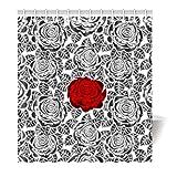 Violetpos Duschvorhang Rose petal Sexy Hochwertige Qualität Badezimmer 120 x 180 cm