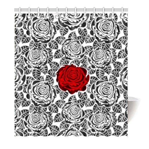 Preisvergleich Produktbild Violetpos Duschvorhang Rose petal Sexy Hochwertige Qualität Badezimmer 120 x 180 cm