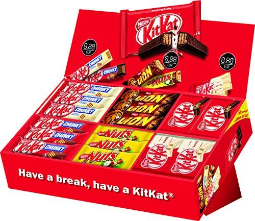 Chunky Schokoriegel (Nestlé Party Box, KitKat, Lion und Nuts, 6 Sorten, 64 Schokoriegel)