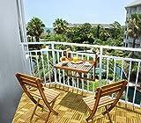 INTERBUILD REAL WOOD Table de Balcon interconstruite en Bois véritable et chaises...