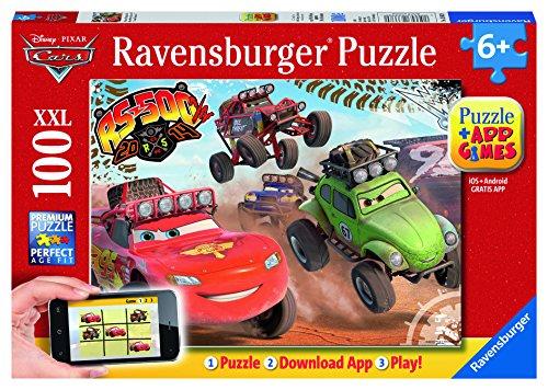Preisvergleich Produktbild Ravensburger Spieleverlag 13662 - Cars in Aktion - 100 Teile XXL, QR Code für die Gratis-App