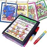 BBLIKE Doodle Libri Magico,Tappeto Colorabile Magico Doodle con 1 Libro Acquatico Disegno e 2 Pennarelli Magiche, Perfetti Regali Educativi per Il Compleanno e Natale