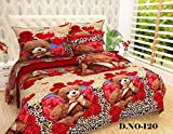 #3: King Size 3 Pc Bedding Set - 1500 Series Hypoallergenic Wrinkle Free Bed Linens Exclusive Design Double Bedsheet |Includes 2 King Size Pillows Covers||1 Flat Bed Sheet 90x100 Inch (Indian Quality Collection)-Multi-Color