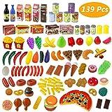 Giocattolo Frutta, Estela 139 PCS Taglio Frutta Verdura Tagliando Giocattolo Set Gioco per Bambini Accessori Cucina Giocattolo Educativo Prima Infanzia - Regalo Perfetto per Bambini 3+ Anni