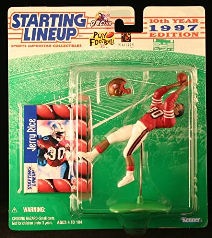 JERRY RICE / SAN FRANCISCO 49ERS 1997 NFL Starting Lineup Action Figure & Exclusive NFL Collector Trading Card