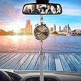 Itimo orologio decorazione con profumo deodorante per auto, stoccaggio auto specchietto retrovisore ornamento appeso ciondolo interior Accessory (dorato)