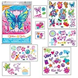 Glitter4Girls Girls Temporary Tattoos – 50+ assorted glitter tattoos
