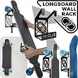 Longboard Wandhalterung (100% Stahl) (schwarz)