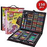 150PCS Crayon de Couleur Professionnel,Set de Dessin Enfant,Set de Peinture,Crayons de Couleur,Pastels à l'huile,Mini Crayons de Couleur,Cadeau Idéal pour Enfants-Colore Crayons de Dessin Art Set