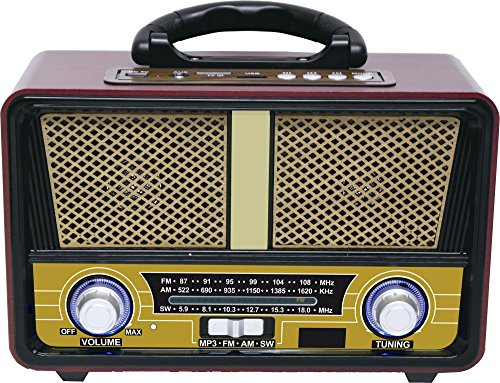 QFX RETRO-90 Retro Collection Bluetooth 3 Band AM/FM/SW Radio (Retro Am / Fm Radio)