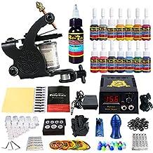 Solong Tattoo equipos del Tatuaje Completo 1 Maquina del Tatuaje 14 Tintas Fuente de Alimentacion Pedal Agujas Grips Consejos TK102