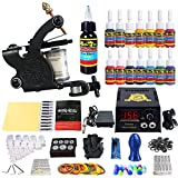 Solong Tattoo® Profi Komplett Tattoomaschine Set 1 Tattoo Maschine Guns 14 Farben/Inks Tinte Nadel...
