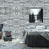 Wopeite Backstein An Papier Stein Tapete selbstklebend Rolle Multi Backstein Blöcke Wand Muster Zuhause Zimmer Dekoration für Wohnzimmer Schlafzimmer 45X1000cm