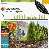 GARDENA Kit d'arrosage goutte-à-goutte pour rangées de plantes M automatic: système d'arrosage Micro-Drip pour un arrosage en douceur des rangées de plantes (13012-20)