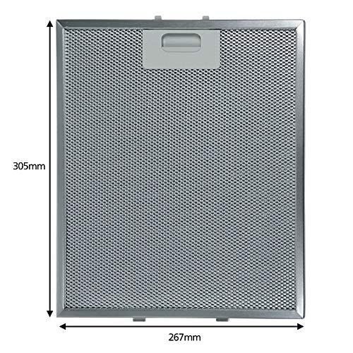 Spares2go - Filtro de malla de aluminio para ventilador de campana de...