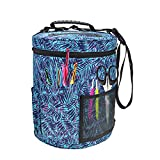 Pueri Sac à Tricoter Stockage de Laine Tricot Rangement Laine Tricot Organisateur de Sac Crochet Sac à Tricoter et à Coudre Sac Fourre-Tout Organisateur des Aiguilles avec Bandoulière 27.5*32.5cm (A)