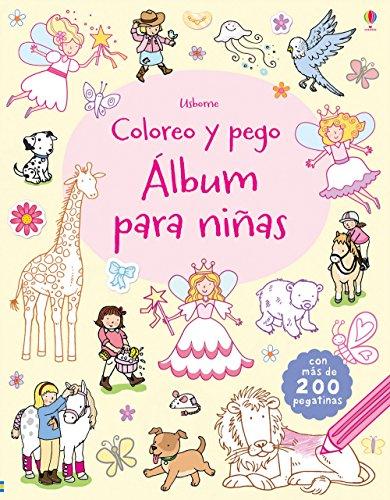 Álbum para niñas. Coloreo y pego
