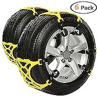 Sono compatibili per auto universale come SUV Jeep ecc, adatta alla larghezza del pneumatico: 165 mm-285 mm/ruote generalmente 16-18 pollici Perfetto per neve, strade fangose, arrampicata e uscita. Un totale di 2 pezzi installa un collare, Se...