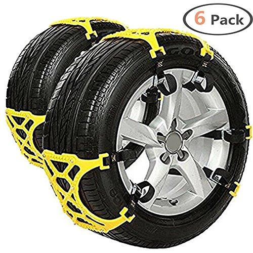 Semoss 6 pezzi universale catene da neve per auto suv jeep camion antiscivolo catene del pneumatici per qualsiasi larghezza pneumatici 165 - 285 mm