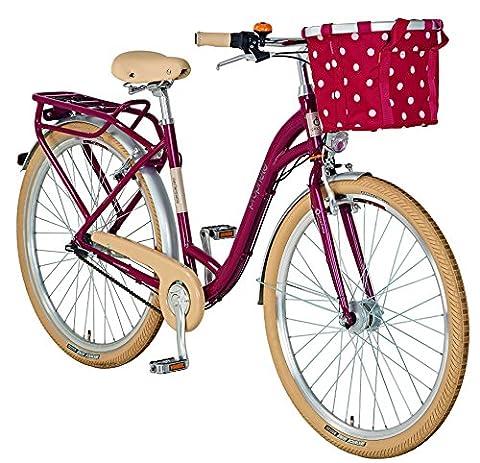Prophete Damen Fahrrad Alu-City 28 Zoll Geniesser 6.01, rot, M, 54516-2111