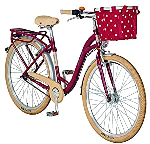 prophete damen fahrrad alu city 28 zoll geniesser rot m 54516 2111 sport. Black Bedroom Furniture Sets. Home Design Ideas