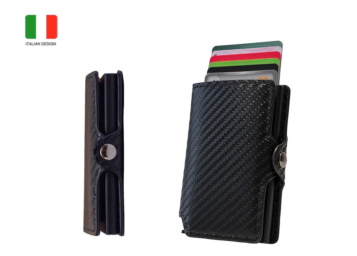 b3adb8bf03 ... KORUMA RFID / NFC BLOCCO MINI WALLET, Portafoglio uomo (KUK-36NBL;  CARAK Porta carte Di Credito ...
