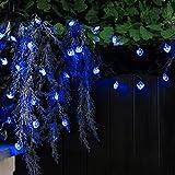 Festive Lights Guirlande Solaire 100 LED Cœur 10 Mètres (Bleu)