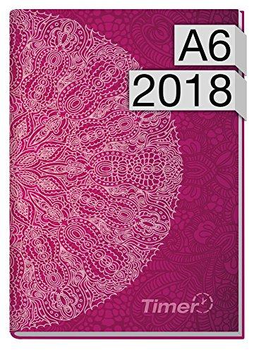Chäff-Timer mini A6 Kalender 2018 [Lila Mantra] 12 Monate Jan-Dez 2018 - Terminkalender mit Wochenplaner - Organizer - Wochenkalender