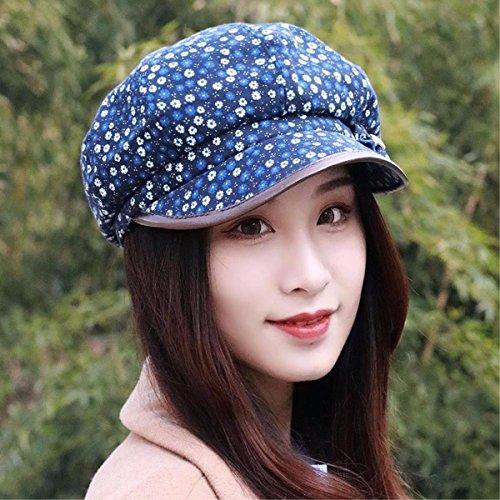 SAIBANGZI Hat Mujer Otoño Invierno Nuevo Estilo Emocionante Hat Octogonal  Boina Dama Joven Madre Tapa Sombrero aba0337accf