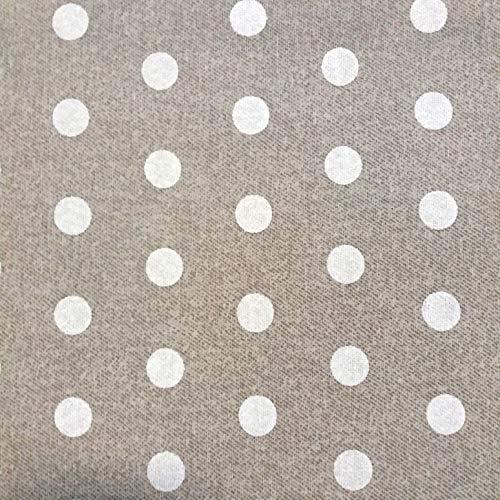 23d959b4ab473 Staab s Beschichtete Baumwolle Dekostoff beige weiß gepunktet (Meterware