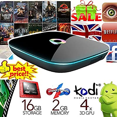 Pitch Perfect 2016 Latest Q BOX Android 5.1 KODI 16.0 Jarvis Fully Loaded Smart TV MXQ Pro Box with Amlogic s905 Streaming Media Player Quad Core 2GB/16GB EMMC/4K & Game Palyer Dual WIFI Mini PC