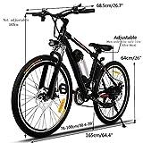 Keelied 26 Zoll E-Bike Mountainbike Elektrofahrrad 36V/250W Reichweite 70KM 25-35KM/S mit LED Scheinwerfer