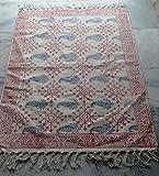 silkroude Handmade Block Print Kelim Teppich Größe 2'x3' Füße Fußmatte, Küche Matte Baumwolle Kelim Dhurrie Teppich