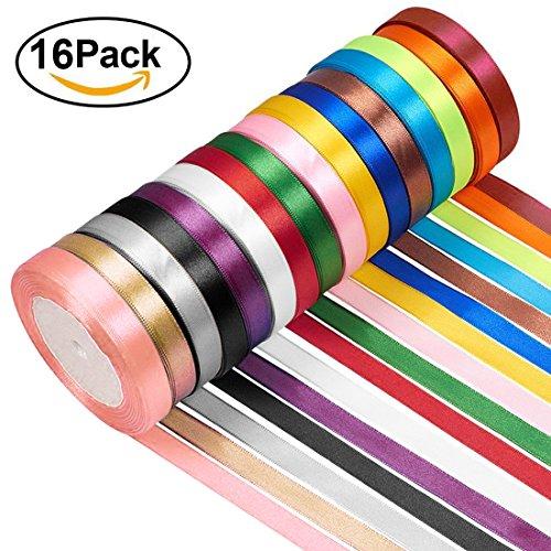 Gudotra nastro raso 16 colori nastrini per la cerimonia della festa della decorazione della casa invito