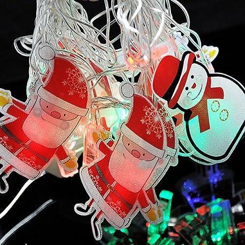 Il giorno di Capodanno Natale Decorazione lampada LED stringhe cortile decorato ,RGB