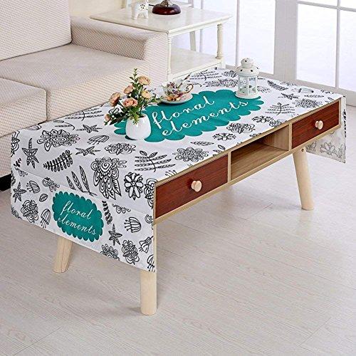 Moderne, Einfache Baumwolle Leinen Tischdecke Wohnzimmer rechteckiger Couchtisch Mat Tischdecke TV-Schrank Kühlschrank Tuch-O 80 x 190 cm (31 x 75 Zoll)